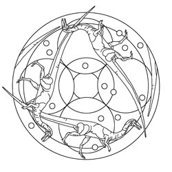mandalas mit dinos basteln gestalten