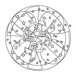 Mandala Vorlagen für Weihnachten | Basteln & Gestalten