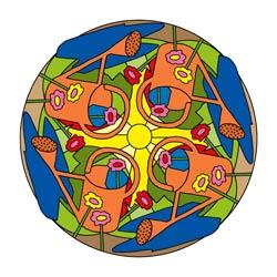 Mandala mit Gießkanne