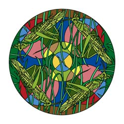 Mandala Heuschrecke