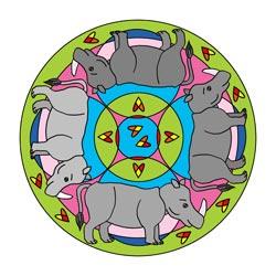 Mandalas mit Tieren