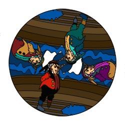 Mandalavorlage Piraten