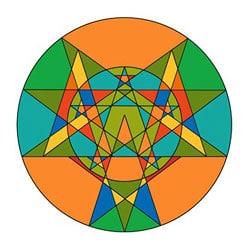 Mandalavorlage Mandala - Sterne 2