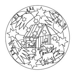Weihnachten Mandala Ausmalbilder.Mandala Vorlagen Für Weihnachten Basteln Gestalten