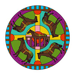 Mandala Vorlagen - Pferde