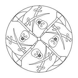 Piraten mandalas basteln gestalten for Scha ne bilder zum ausdrucken