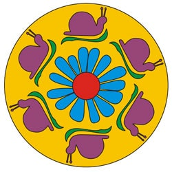 Schnecken Mandala