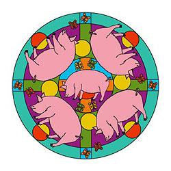 Mandalavorlage Schweine