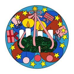 Mandala Zweiter Advent