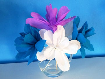 Krepppapier - Blumen