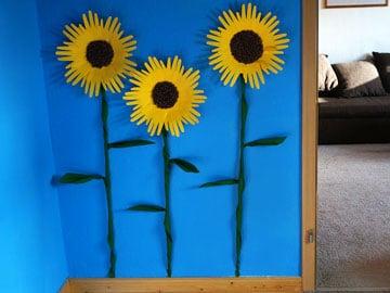Sonnenblumen als Wand-Deko