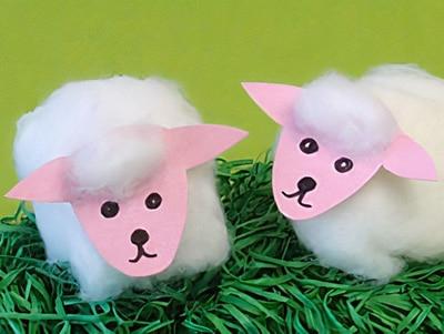 Schafe basteln
