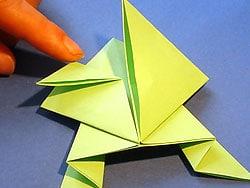 Sehr Einen springenden Frosch falten | Basteln & Gestalten RF75