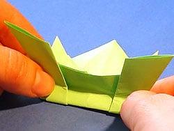 Schritt 15: Frosch falten