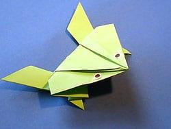 Berühmt Einen springenden Frosch falten | Basteln & Gestalten ZB27