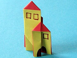 Haus basteln aus Papier