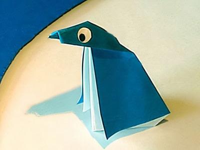 Pinguin basteln mit Papier