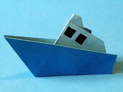 Boot bastelvorlage  Schiff basteln | Basteln & Gestalten
