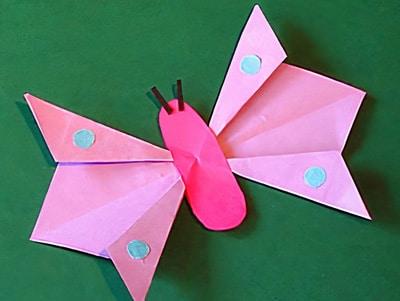 Schmetterling basteln mit Papier