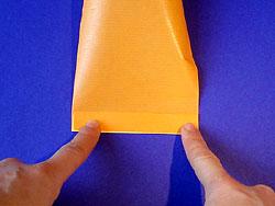 Schritt 3: Streifen wenden und nochmals falten