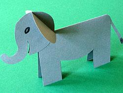 Tischkarte Elefant