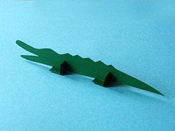 tischkarte krokodil basteln amp gestalten