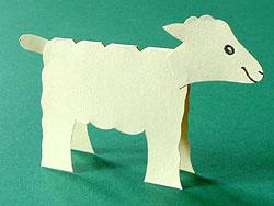 Tischkarte Schaf