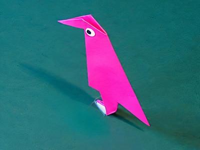 Vogel basteln mit Papier