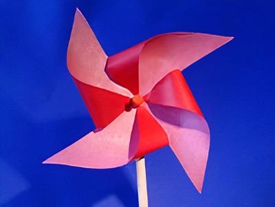 eine Windmühle basteln
