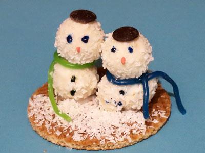 Schneemänner zum Essen