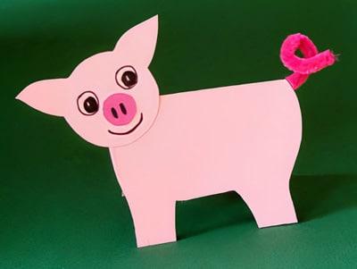 Ein Kleines Schwein Basteln Basteln Gestalten