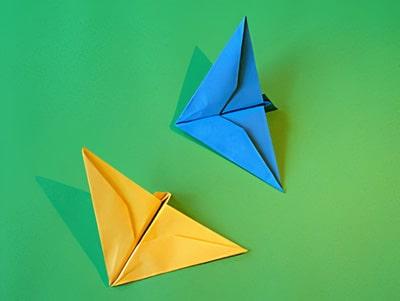 Schnittigen Papier Flieger Basteln Basteln Gestalten
