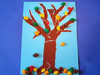 Ein Bunter Herbstbaum Basteln Gestalten