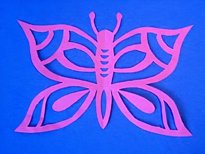 Scherenschnitt Schmetterling