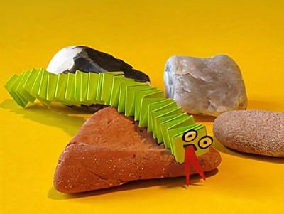 Eine Kleine Schlange Falten Basteln Gestalten