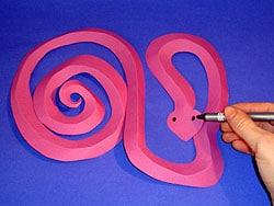 Schlangen aus Papier basteln