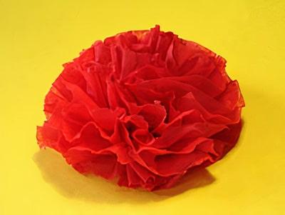 paper napkin rose