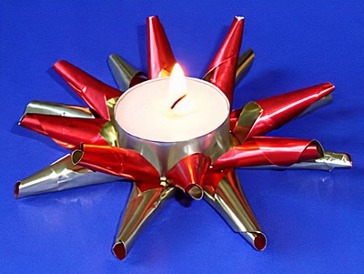 Weihnachtsbasteln Sterne Aus Goldpapier.Einen Teelichthalter Basteln Basteln Gestalten