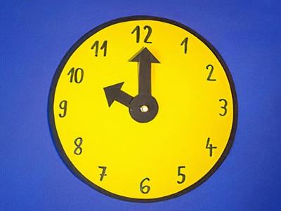 Eine Uhr Basteln Basteln Gestalten