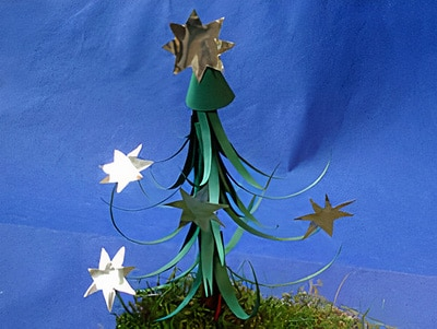 einen Weihnachtsbaum basteln
