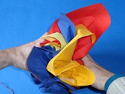 Verpackung mit Papierservietten