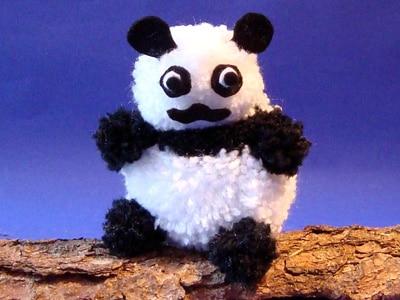 Pandabär aus Wolle